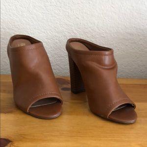 Massimo size 6-1/2 brown heels - NWT
